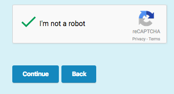 What is the reCaptcha code - I'm not a Robot field